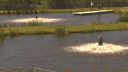 HD2009-7-2-20 water aeration pumps 2 shot Stock Video Footage