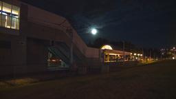 HD2009-7-3-10 night LRT stn TL Stock Video Footage