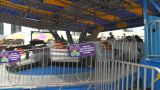 HD2009-7-3-16 Midway Rides Kids stock footage