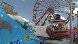 HD2009-7-3-16 midway rides kids Stock Video Footage