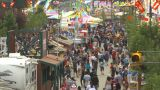 HD2009-7-3-18 Midway Aerial Lots Of People stock footage