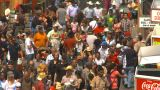 HD2009-7-3-20 Midway Aerial Lots Of People stock footage