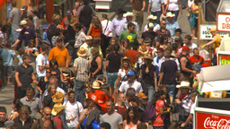 HD2009-7-3-20 midway aerial lots of people Stock Video Footage