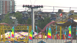HD2009-7-3-24 midway aerial skyline ride 2shot Stock Video Footage