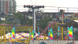 HD2009-7-3-24 midway aerial skyline ride 2shot Footage
