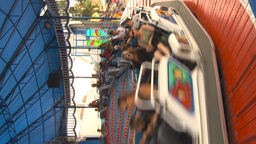 HD2009-7-3-30 midway snoexpress ride vertical Stock Video Footage