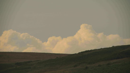 HD2009-7-7-1 clouds on horizonhill TL Stock Video Footage