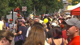 HD2009-7-8-5b lots of people street festival Stock Video Footage