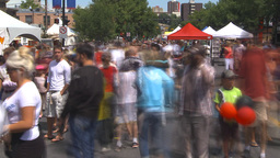 HD2009-7-8-7 lots of people street festival TL Footage