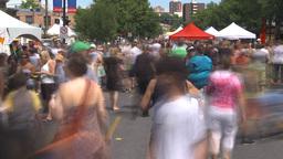 HD2009-7-8-7 lots of people street festival TL Stock Video Footage