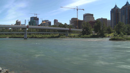 HD2009-7-8-11 river and downtown TL Stock Video Footage