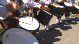 HD2009-7-9-5 military highland drummers Stock Video Footage