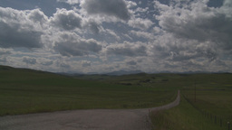 HD2009-7-10-2RC foothills and clouds Stock Video Footage