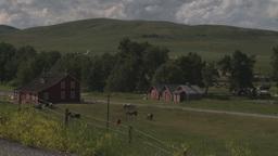 HD2009-7-10-10RC bar u ranch 2shot Stock Video Footage