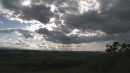 HD2009-7-10-24RC clouds and foothills TL Stock Video Footage