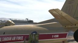 HD2009-7-10-36RC F86 sabre tug x2 Stock Video Footage
