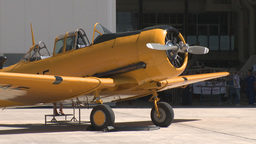 HD2009-7-10-42RC harvard and hangar Stock Video Footage