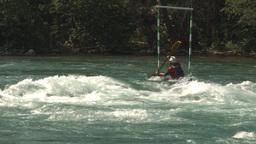 HD2009-7-13-2 kayak river montage Stock Video Footage