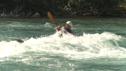 HD2009-7-13-2 kayak river montage Stock Video Footage