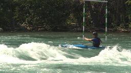 HD2009-7-13-4 kayak river montage Stock Video Footage