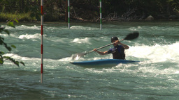 HD2009-7-13-4 kayak river montage Footage