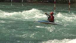 HD2009-7-13-4 kayak river montage Stock Video Footage