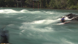 HD2009-7-13-6 kayak river TL Stock Video Footage
