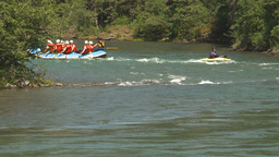 HD2009-7-13-10 whitewater kayak raft river Stock Video Footage