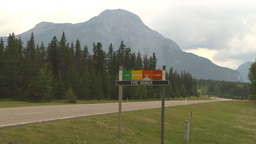 HD2009-7-15-1 fire danger sign - high Footage