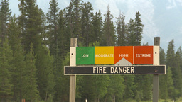 HD2009-7-15-1 fire danger sign - high Stock Video Footage