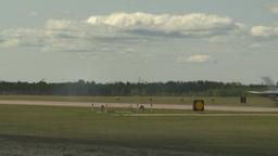 HD2009-6-1-8 F18 hornet landing through frame Stock Video Footage
