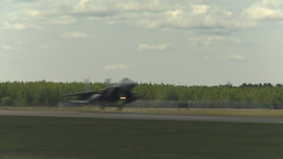 HD2009-6-1-10 F15 Eagle landing through frame Stock Video Footage