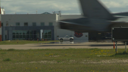 HD2009-6-1-12 F18 Hornet taxi Stock Video Footage