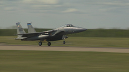 HD2009-6-1-14 F15 Eagle landing Stock Video Footage