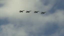 HD2009-6-1-16 F18 hornet formation fly Stock Video Footage