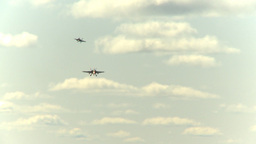 HD2009-6-1-18 F18 hornets x3 on approach Stock Video Footage