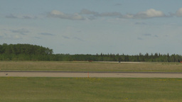 HD2009-6-1-20 F18 hornet landing throughframe Stock Video Footage