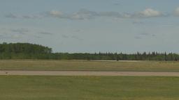 HD2009-6-1-20 F18 hornet landing throughframe Footage