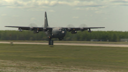 HD2009-6-1-22 C130 Herc Landing stock footage