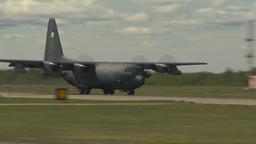 HD2009-6-1-22 C130 Herc landing Stock Video Footage