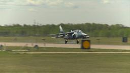 HD2009-6-1-24 slomo Alphajet landing Stock Video Footage