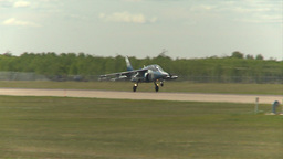 HD2009-6-1-26 slomo Alphajet landing Stock Video Footage