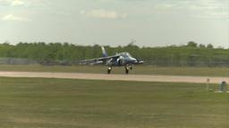 HD2009-6-1-26 slomo Alphajet landing Stock Video Footage