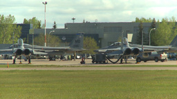 HD2009-6-2-3 F15 Eagle apron Stock Video Footage
