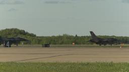 HD2009-6-2-34 F16 Falcon taxi x3 agressor Stock Video Footage
