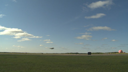 HD2009-6-2-36 F16 Falcon takeoff throughframe Stock Video Footage