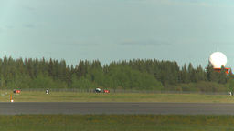 HD2009-6-2-38 F16 Falcon takeoff through frame x2 Stock Video Footage