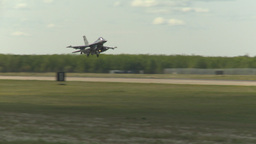 HD2009-6-2-48 F16 Falcon landing Footage