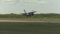 HD2009-6-2-48 F16 Falcon landing Stock Video Footage