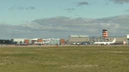 HD2009-6-2-50 apron E3a ATC hangars Stock Video Footage